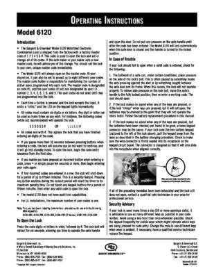 Model 6120 Operating Instructions