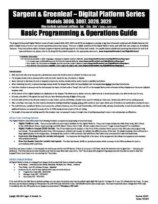 Audit Lock 2.0 Quick Start Operating Instructions