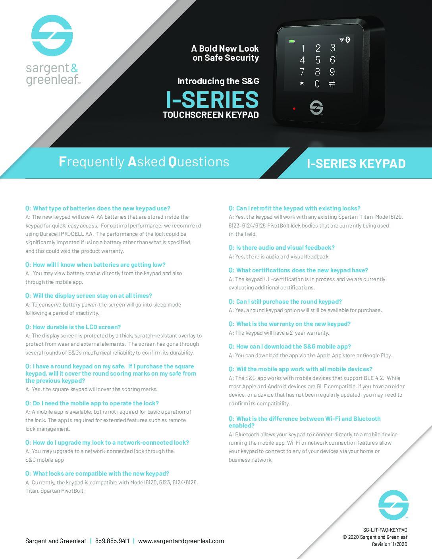 I-Series FAQs