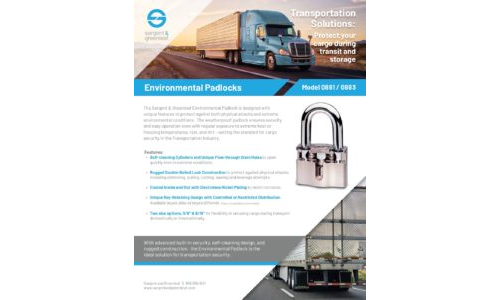 Environmental Padlock - Transportation