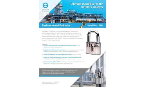 Environmental Padlock - Refinery