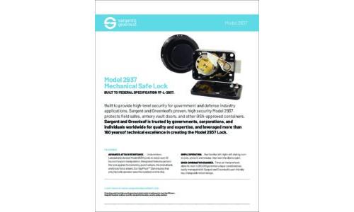 Model 2937 Sell Sheet