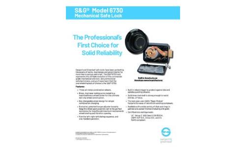 Model 6730 Sell Sheet