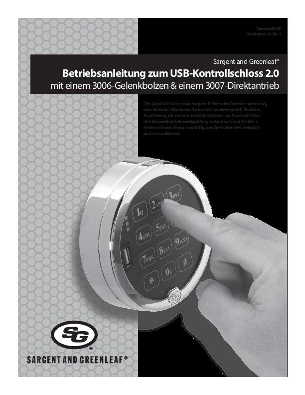Audit Lock 2.0 Operating Instructions - GERMAN