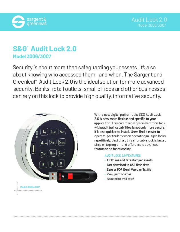 Audit Lock 2.0 Sell Sheet