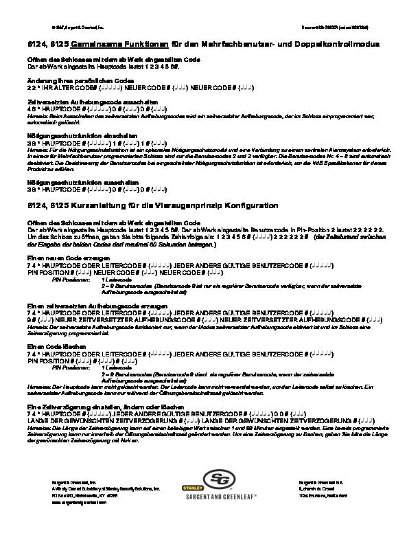 Model 6124_6125 Operating Instructions - GERMAN